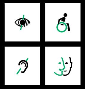 Logotipos de personas descapacitadas